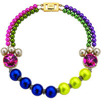 Mawi Candy Luxe Pearl And Crystal Necklace - Polyvore