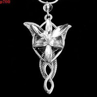 TR00 NEW vintage ARWEN'S EVENSTAR NECKLACE LORD OF THE RINGS SILVER pendant ONE