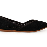 Black Suede Perforated Women's Jutti Flats