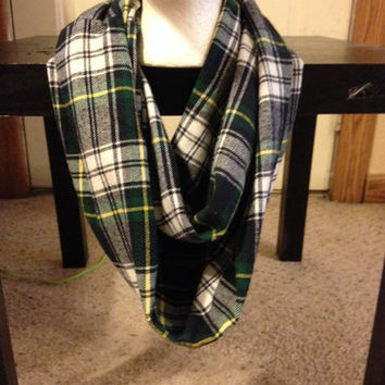 Women's Plaid Flannel Infinity Scarf from Nicole Ray
