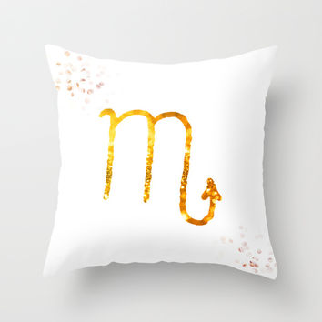 Scorpion Throw Pillow by Haroulita