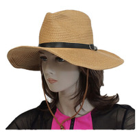 Cow boy style floppy hat with bow