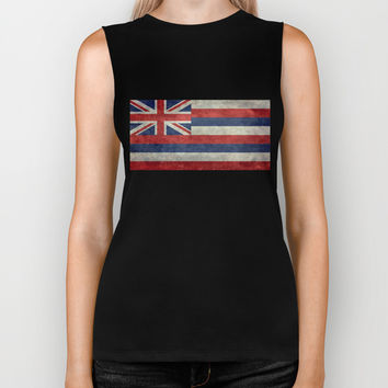 The State flag of Hawaii - Vintage version Biker Tank by Bruce Stanfield