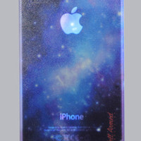 GALAXY GLOW IN THE DARK iPhone 4 or 4s Snap Case
