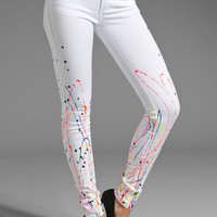 Foley + Corinna Splatter Jeans in White/Multi from REVOLVEclothing.com