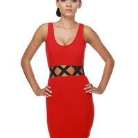 Split Personality Red Dress