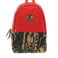 ASOS Backpack With Contrast Camo at asos.com