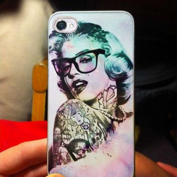 Marilyn Monroe tattooed with glass eye iPhone Case And Samsung Galaxy Case