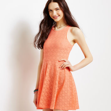 Aeropostale  Solid Diamond Lace Dress