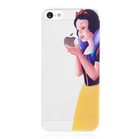 Snow White Transparent Back Cover Case for iPhone 5 & 5S