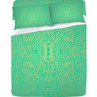 DENY Designs Home Accessories | Jacqueline Maldonado Radiate Teal Gold Sheet Set