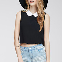 Peter Pan Collar Crop Top