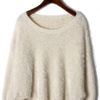 Off-White Fluffy Long Sleeve Sweater