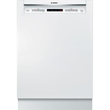 "Bosch - 500 Series 24"" Tall Tub Built-In Dishwasher - White"