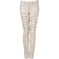 Moto Extreme Ripped Jeans - Polyvore