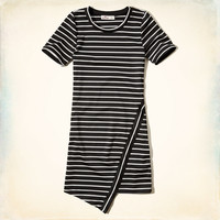 Asymmetrical Stripe Dress