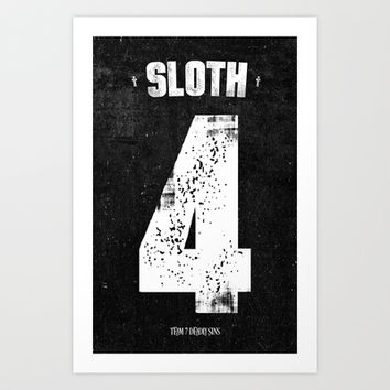 7 Deadly sins - Sloth Art Print by HappyMelvin