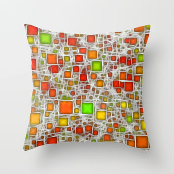 Ceramics Citrus Throw Pillow by Alice Gosling