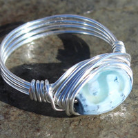 Unique Agate Handmade Wire-wrapped Ring Boho Jewelry, Thumb Ring, Gift Idea, Gift for Her