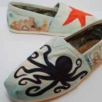 Underwater custom TOMS by KellismCo on Etsy