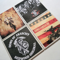 Sons of Anarchy Ceramic Coasters - set of 4