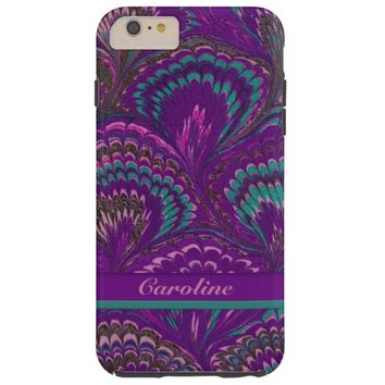 Vintage Marbled French Curl Design iPhone 6 Case