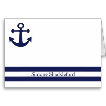 Nautical Anchor Professional Note Card