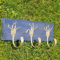 Funky Fork Rack Stained Blue by jjevensen on Etsy