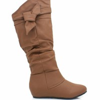 leatherette-strappy-boot TAUPE - GoJane.com