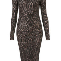 Paisley Midi Bodycon Dress - Dresses  - Apparel