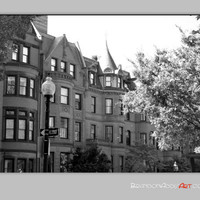 Boston Photo, Boston Streets, Black and White Photo, Along the City Streets Series