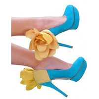 Yellow Flower Heel Panty