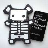 Fluffy Cellphone Case for Iphone - Fellfische - Skeleton