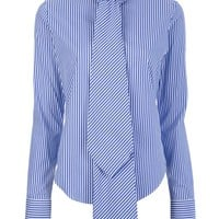 Ralph Lauren Blue Striped Blouse - Al Duca D&#x27;aosta - farfetch.com