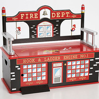 Little Fireman Toy Box Bench