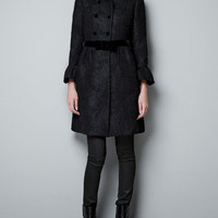 WOOL AND LACE COAT - Coats - Woman - ZARA United States