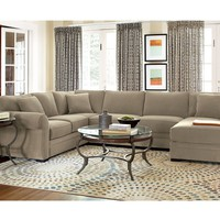 Devon Living Room Furniture Sets & Pieces, Sectional Sofa - Living Room Furniture - furniture - Macy's