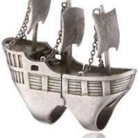 "nOir ""Pirates of the Caribbean"" Full Finger Pirate Ship Statement Ring: Jewelry: Amazon.com"