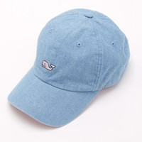 Chambray Whale Logo Baseball Hat