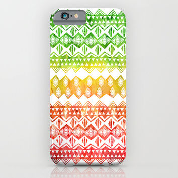 One Love Tribal {white} iPhone & iPod Case by Schatzi Brown