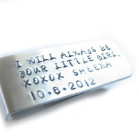 Customize Men Money Clip Personalized Father Gift Keepsake engrave Accessory Husband Boyfriend Wedding Birthday