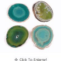 Agate Coasters, Green / Set of 4 - The Afternoon