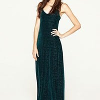 Velvet Maxi Dress - Dresses - Lucky Brand Jeans