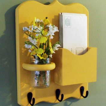Letter Holder Key Hooks Jar Vase Mail Organizer by LegacyStudio