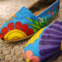 Flowers Custom TOMS Shoes Size 65 by KellismCo on Etsy