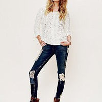 Free People Funky Free Patched Skinny