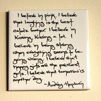 Audrey Hepburn Believe Quote Wall Tile Removable Wall Art