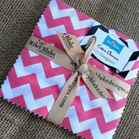 FREE SHIPPING Riley Blake Small Chevron Dots 5&quot; Stacker