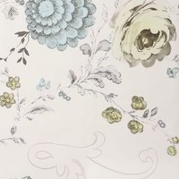 Blooming Filigree Mural - Anthropologie.com