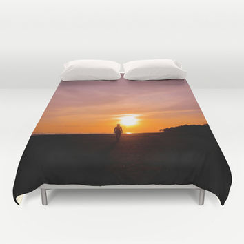Sunset Walk Duvet Cover by Nicklas Gustafsson